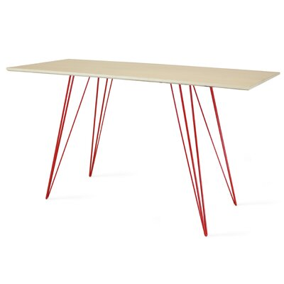 Williams Writing Desk Color: Red