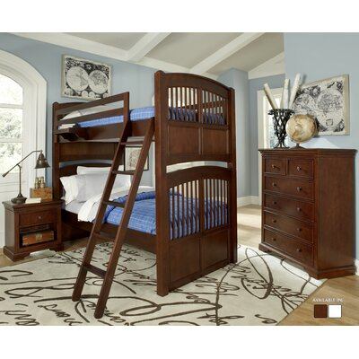 Javin Standard Bunk Bed Size: Twin over Twin, Color: Chestnut