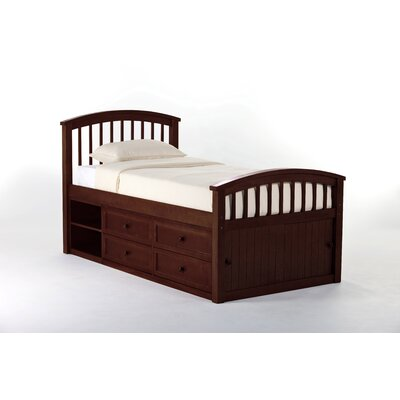 Lyric Captain's Bed Size: Full, Color: Cherry