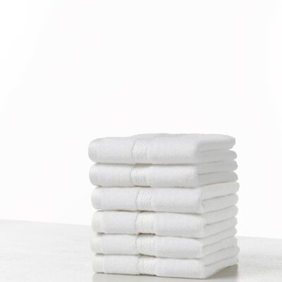 Suites 100% Cotton Washcloth Color: Optical White