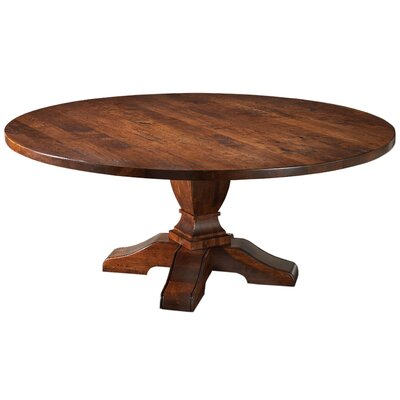 "Sheffield Pedestal Dining Table Color: Brown Red, Size: 30.25"" H x 72"" W x 72"" D"