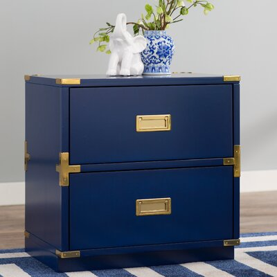 Harrison 2 Drawer Chest Color: Lapis Blue