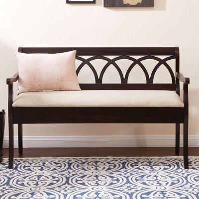 Rome Wood Storage Bench Color: Antique Black