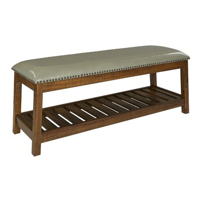 Cogar Upholstered Bench Upholstery: Gray