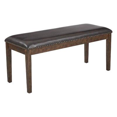Didmarton Bench Upholstery: Espresso/Antique Bronze