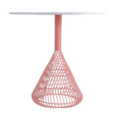Bistro Table Base Base Color: Peachy Pink