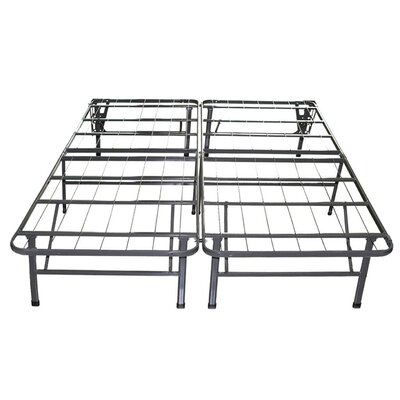 Innovative Bed Frame Foundation with Skirt & Brackets Size: Queen
