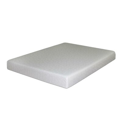 "Best Price Quality 7"" Gel Memory Foam Mattress and Base Foundation Set Mattress size: Queen"