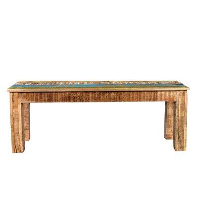 "Natascha Wood Bench Size: 18"" H x 60"" W x 16"" D"
