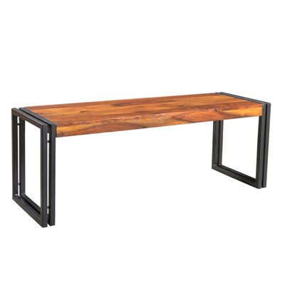 "Leah Wood Bench Color: Sheesham, Size: 17.5"" H x 60"" W x 15.75"" D"