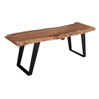 "Odette Wood Bench Size: 60"""