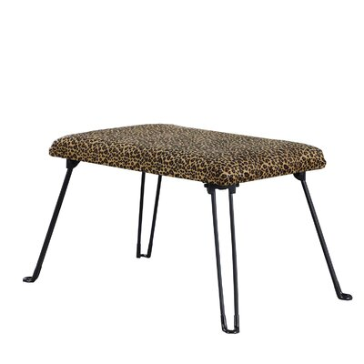 Dana Point Leopard Backless Vanity Stool