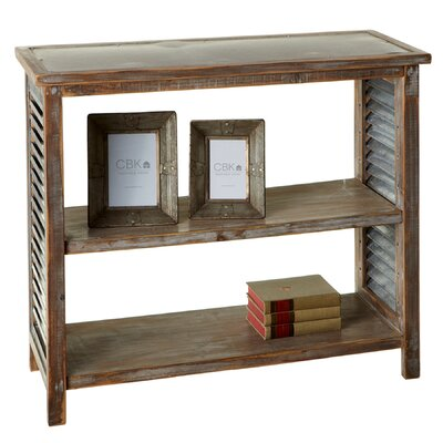 Elsworth Galvanized Top Console Table