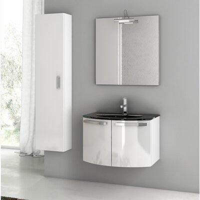 "Crystal Dance 30"" Single Bathroom Vanity Set with Mirror"