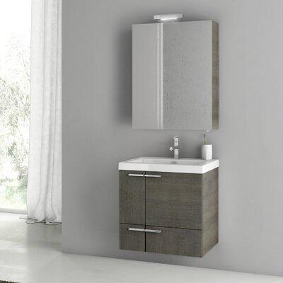 "New Space 24"" Single Bathroom Vanity Set Base Finish: Glossy White"