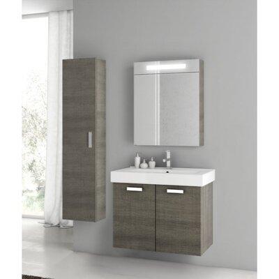 "Cubical 27"" Single Bathroom Vanity Set Base Finish: Gray Oak"