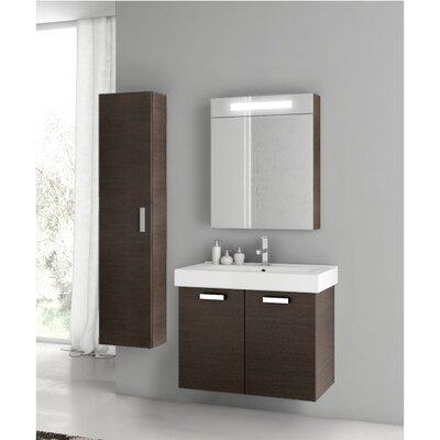 """Cubical 27"""" Single Bathroom Vanity Set Base Finish: Wenge"""