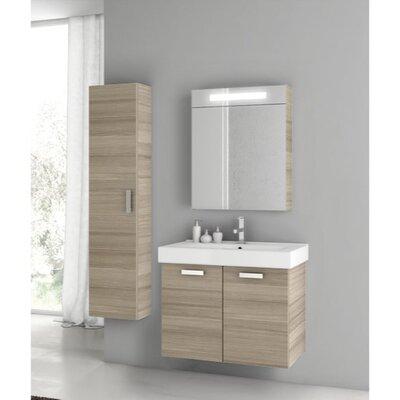 """Cubical 27"""" Single Bathroom Vanity Set Base Finish: Larch Canapa"""