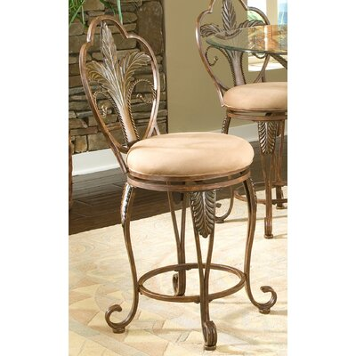 Pina Swivel Bar Stool Seat Height: 24''