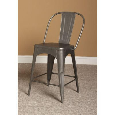"Timbuktu 24"" Bar Stool Finish: Rubbed Steel"