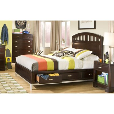 Jami Contemporary Storage Platform Bed Color: White, Size: Full