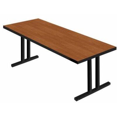 "iDesign 6' Rectangular Conference Table Top Finish: Wild Cherry, Leg Finish: Black, Size: 6' L x 2' 6"" W"