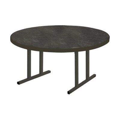 "iDesign Circular 29.75""H x 60""W x 60""L Conference Table Top Finish: Oiled Soapstone, Leg Finish: Matte Walnut"