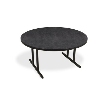 "iDesign Circular 29.75""H x 60""W x 60""L Conference Table Top Finish: Oiled Soapstone, Leg Finish: Black"