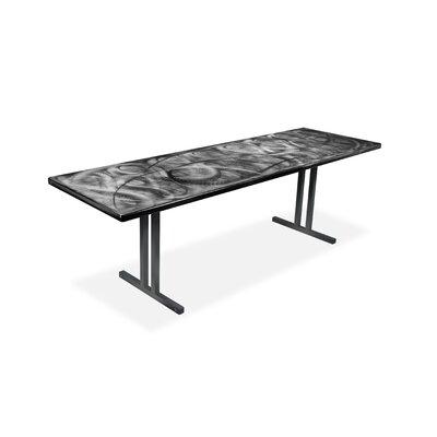 "Swirl Rectangular Folding Table Finish: Graphite, Size: 29.75"" H x 72"" W x 36"" D"