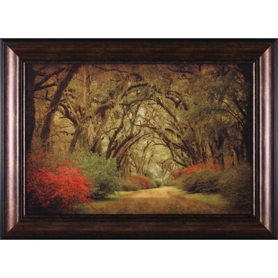 Art Effects Road Lined with Oaks and Flowers by William Guion Framed Painting Print