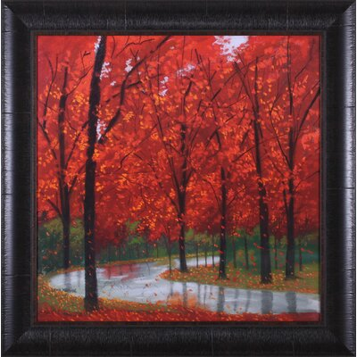 Art Effects Autumn Stream by Lynn Krause Framed Painting Print