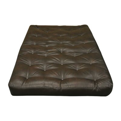 "8"" Cotton Ottoman Size Futon Mattress Upholstery: Dark Brown"