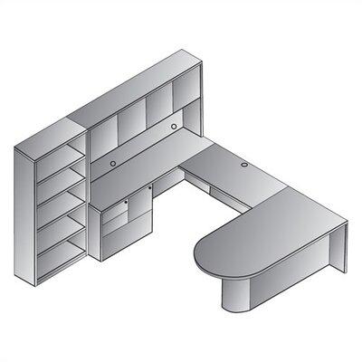 Jusino 8-Piece U-Shape Desk Office Suite