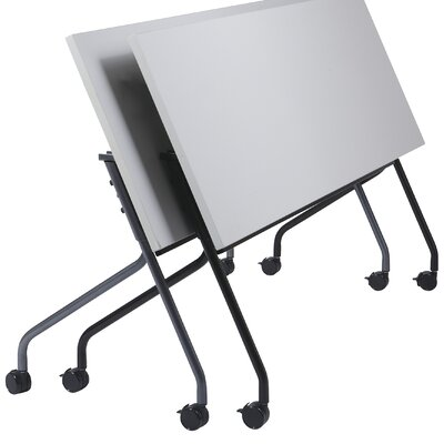 "Training Table with Modesty Panel Base Finish: Titanium, Tabletop Finish: Grey, Size: 72"" W X 24"" D"