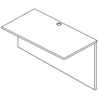 "OSP Furniture Napa 29"" H x 35"" W Desk Bridge"