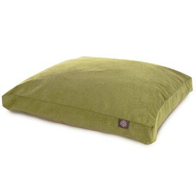 """Villa Rectangle Pet Bed Color: Aubergine, Size: Small (36"""" L x 29"""" W)"""
