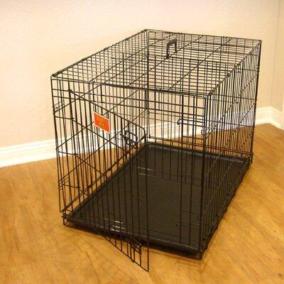 "Single Door Folding Pet Crate Size: Small (21"" H x 18"" W x 24"" L)"