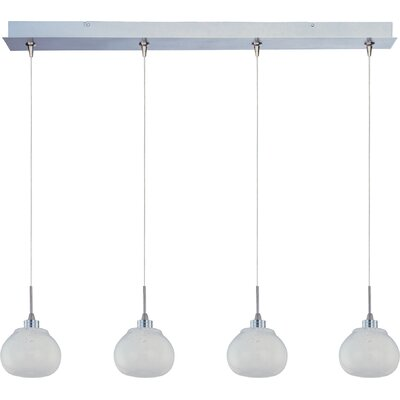 ET2 Snow White 4-Light RapidJack Pendant and Canopy