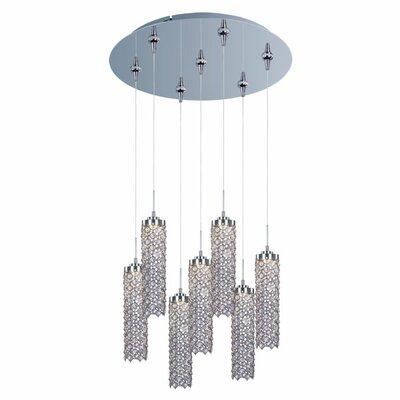 ET2 Shanell 7-Light LED RapidJack Cascade Pendant and Canopy