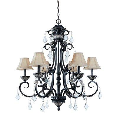 florence 6 light chandelier wayfair