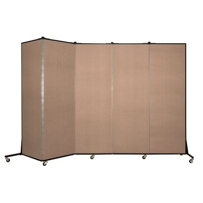 Light Duty 5 Panel Room Divider Color: Tan