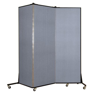 Light Duty 3 Panel Room Divider Color: Mist Blue