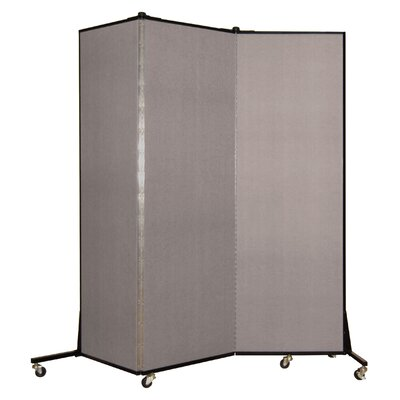 Light Duty 3 Panel Room Divider Color: Light Grey