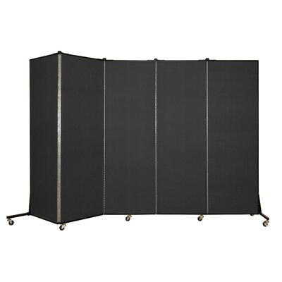 Light Duty 5 Panel Room Divider Color: Charcoal Black