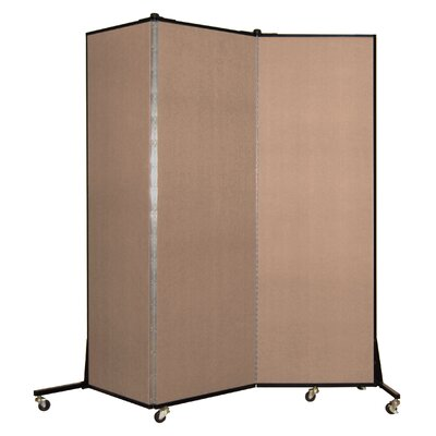 Light Duty 3 Panel Room Divider Color: Tan