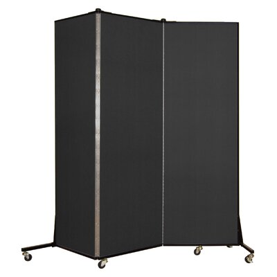 Light Duty 3 Panel Room Divider Color: Charcoal Black