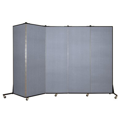 Light Duty 5 Panel Room Divider Color: Mist Blue
