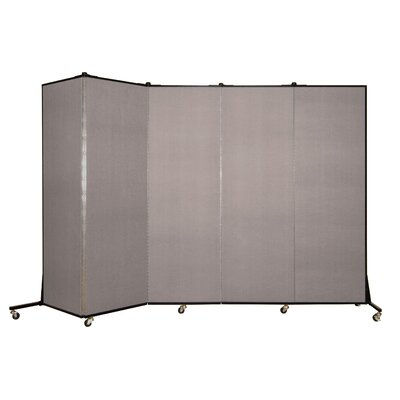 Light Duty 5 Panel Room Divider Color: Light Grey