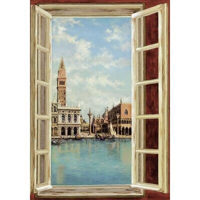 Artland Leinwandbild Fenster mit Blick auf Venedig von Heins, A.