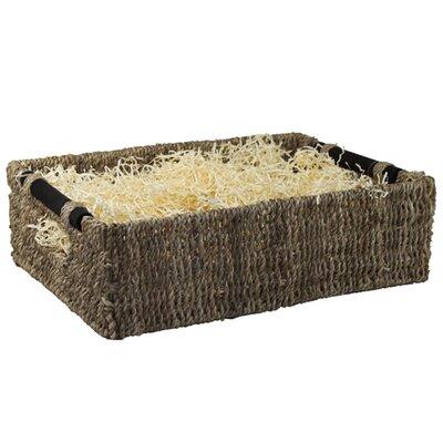 CandiGifts Wooden Handles Seagrass Storage Basket